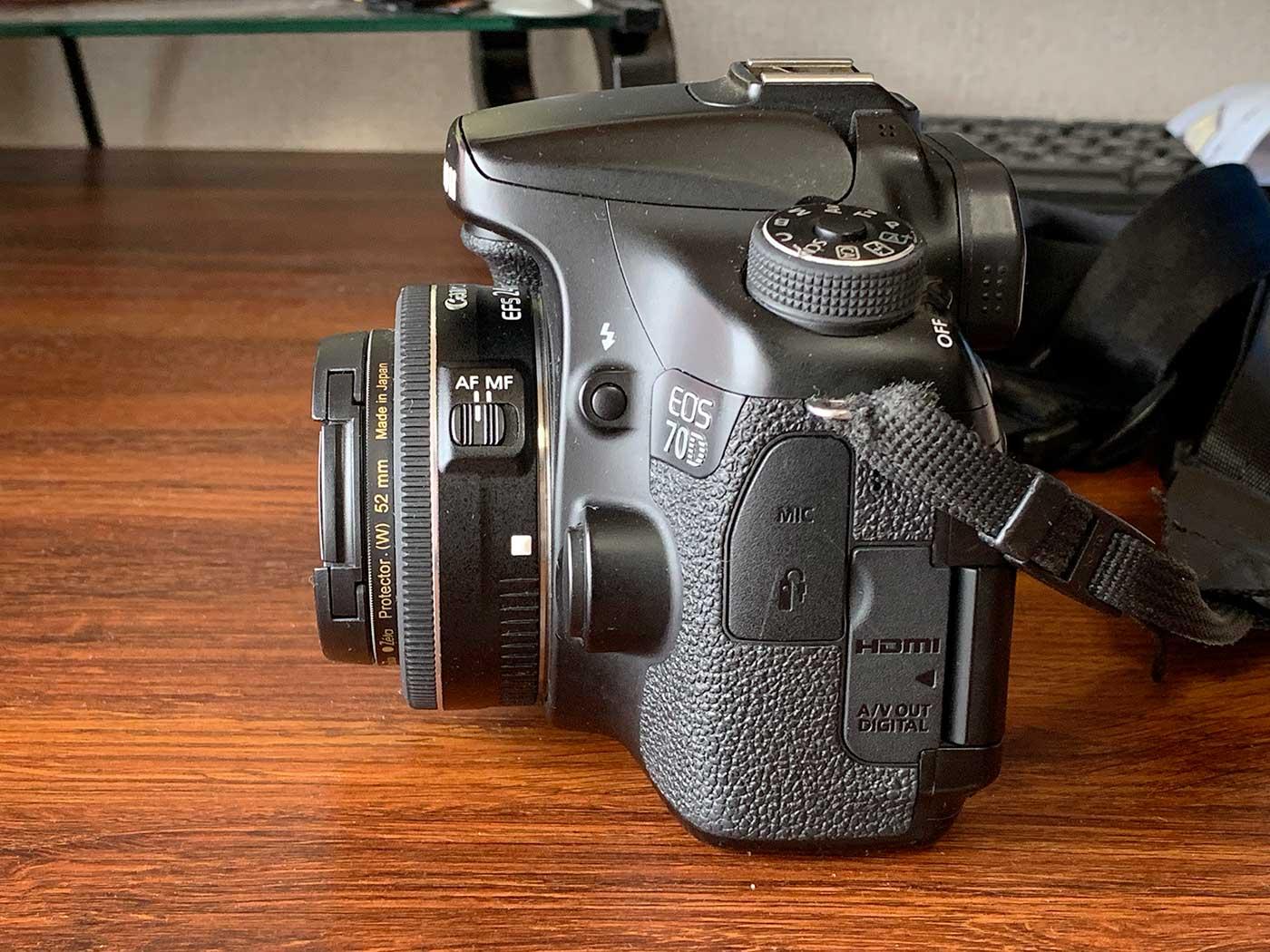 EF-S24mm F2.8 STMのレンズの出っ張り
