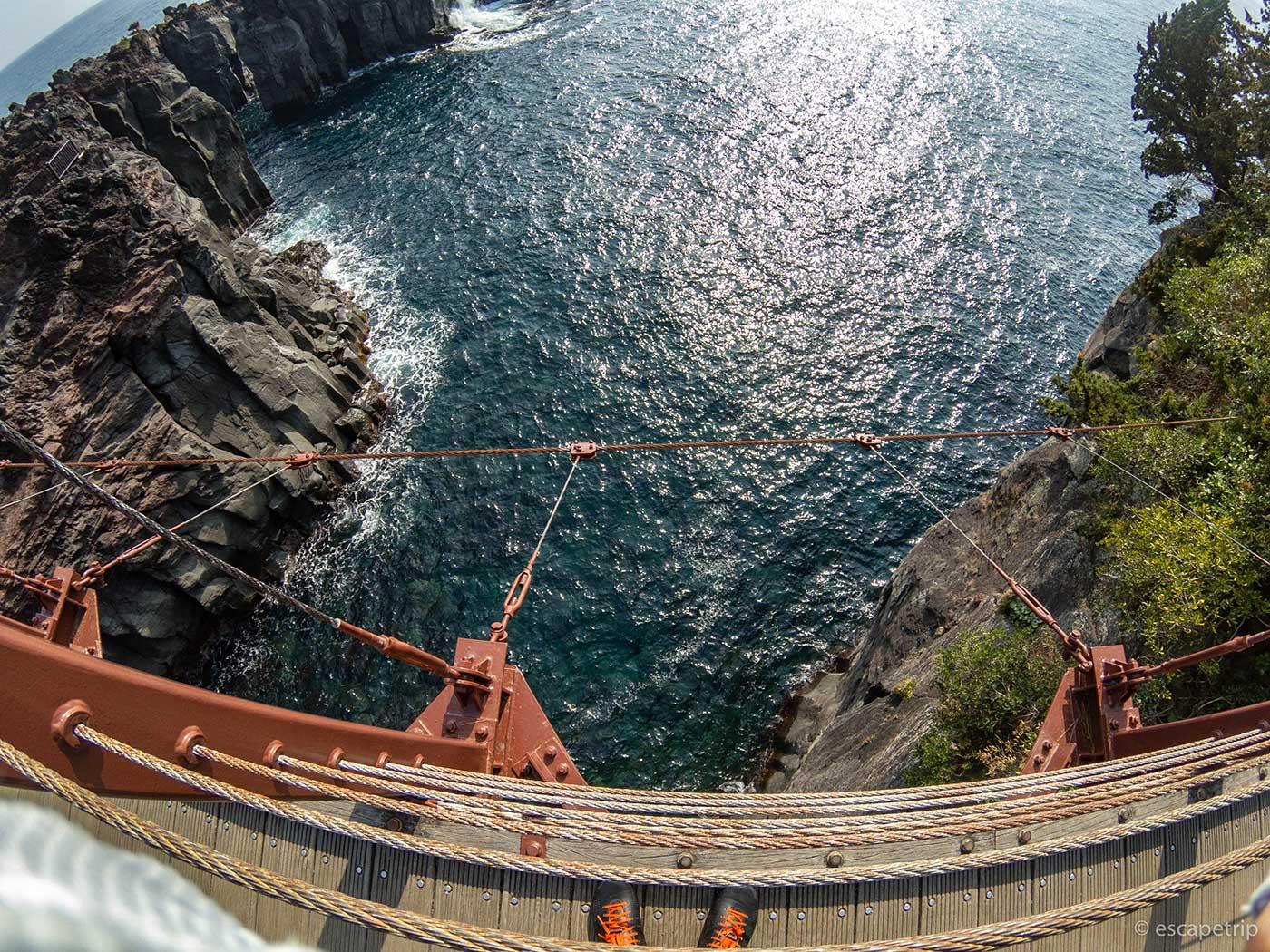 門脇吊橋の高さ