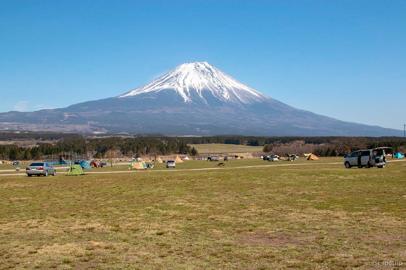 ふもとっぱらキャンプ場の広い敷地