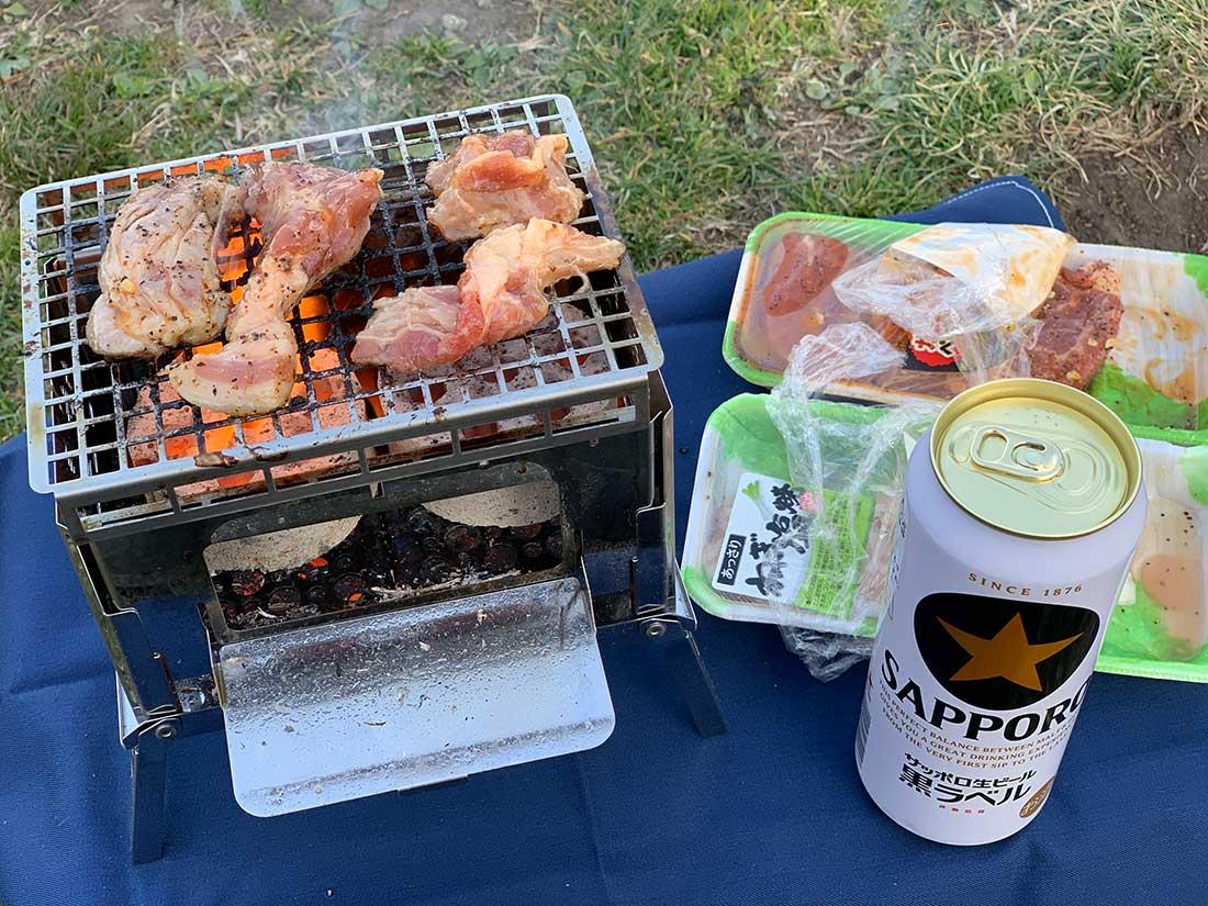 キャンプで一人焼肉