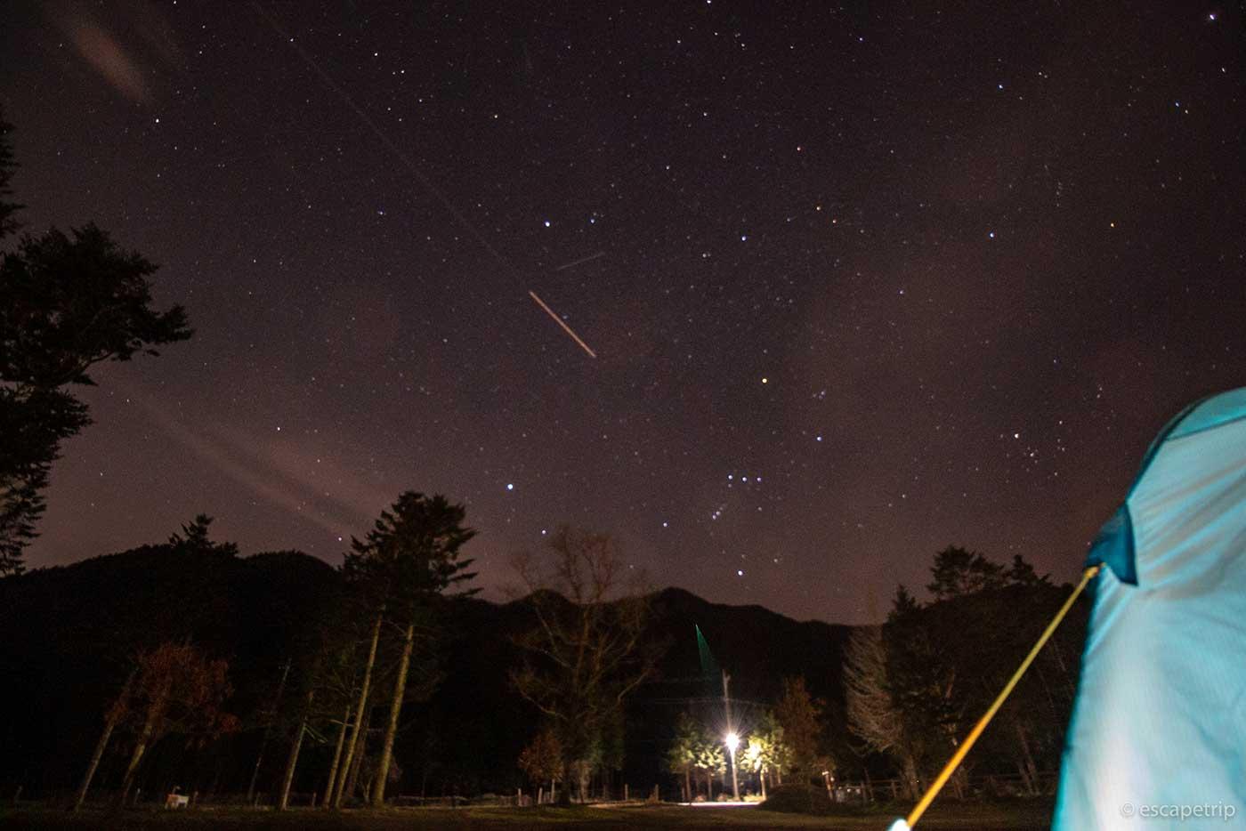 ふもとっぱらキャンプ場の星空