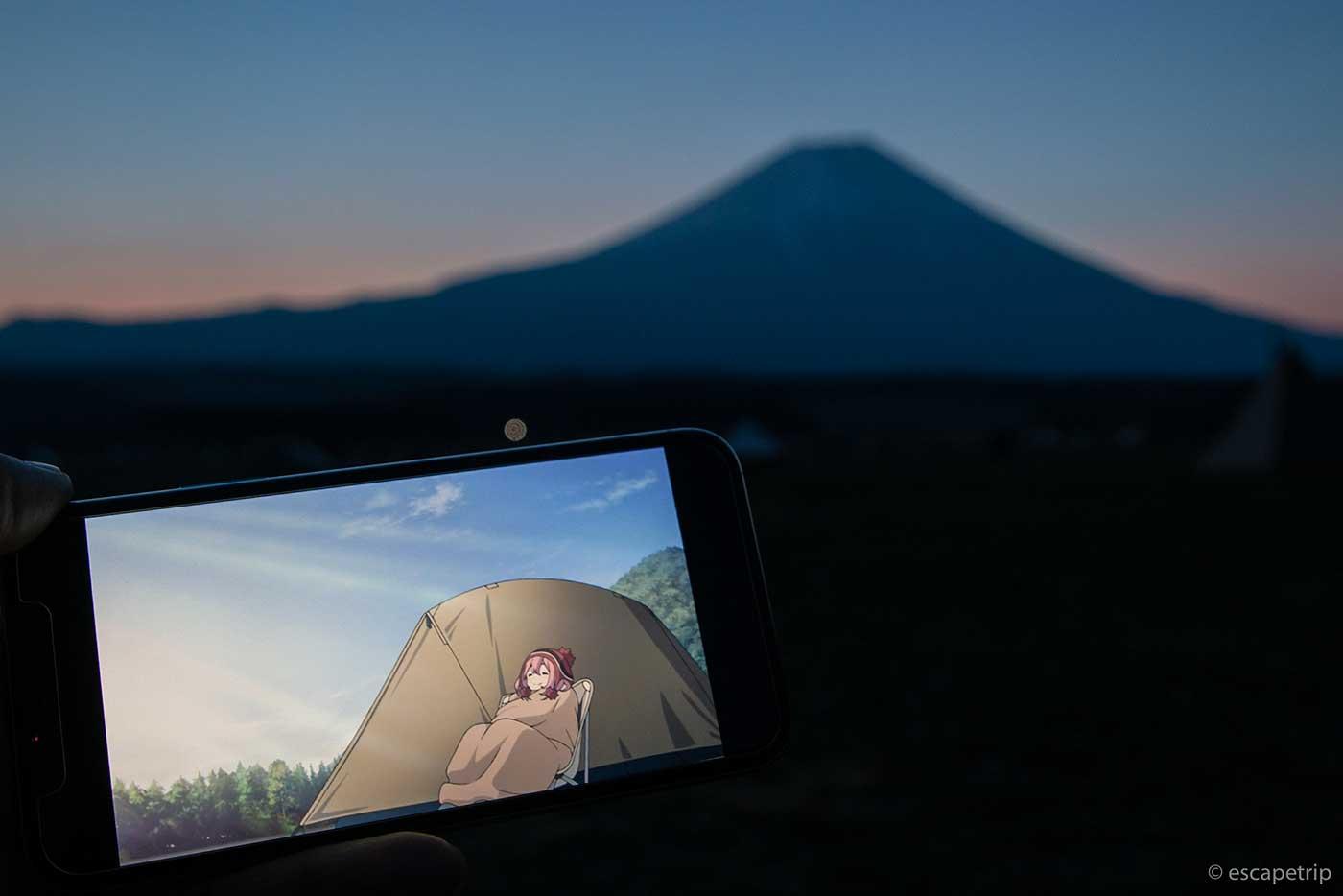 ふもとっぱらキャンプ場の夜明けとゆるキャン