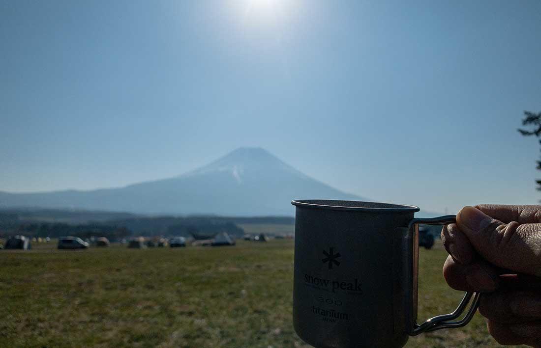 富士山とコーヒー
