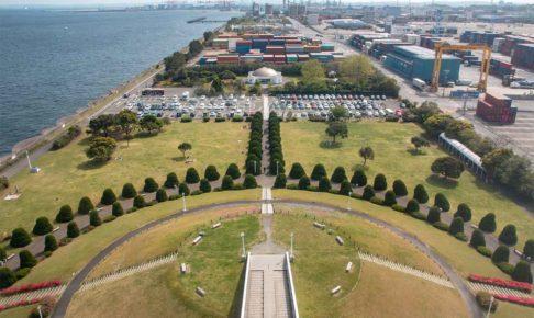 横浜港シンボルタワーから見た景色