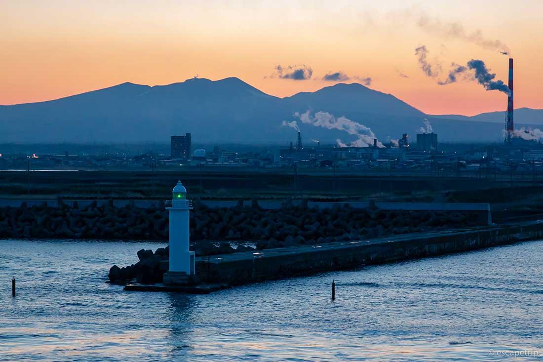 港の夕焼け
