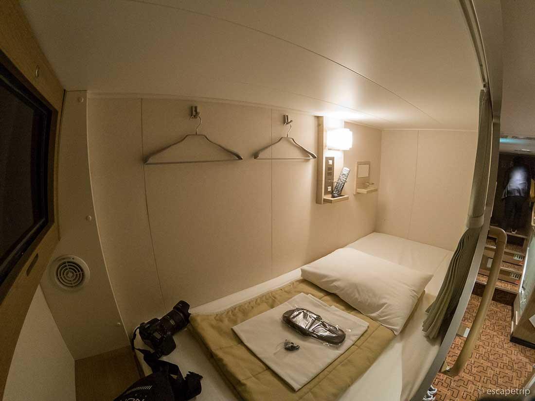 三井商船フェリーのコンフォート部屋の中