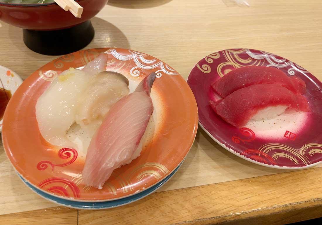 回転寿司トリトンの寿司