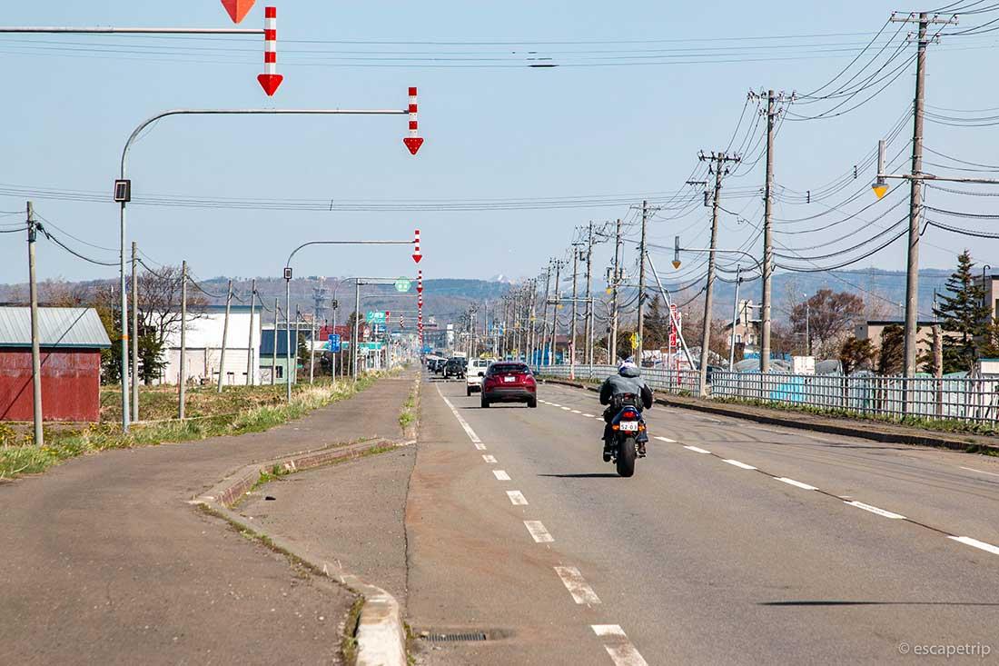 北海道の矢印の標識