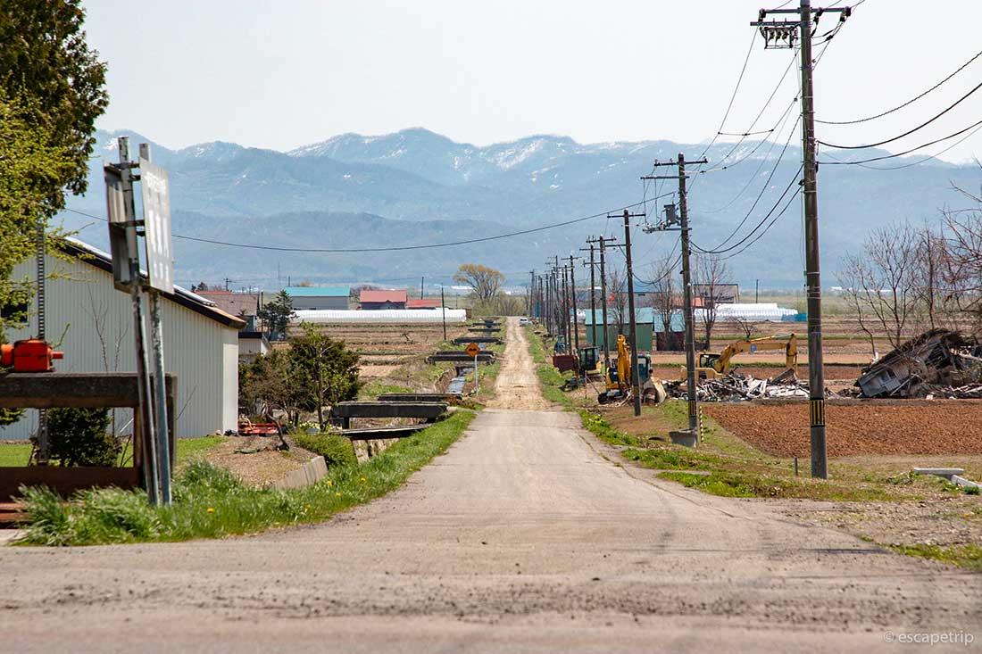 北海道の長い横道