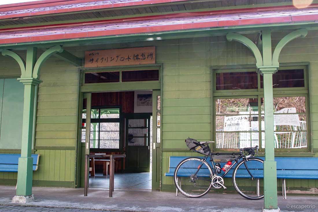 旧神居古潭駅の駅舎