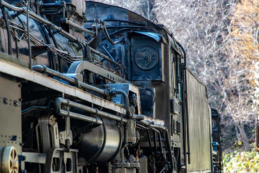 旧神居古潭駅の蒸気機関車