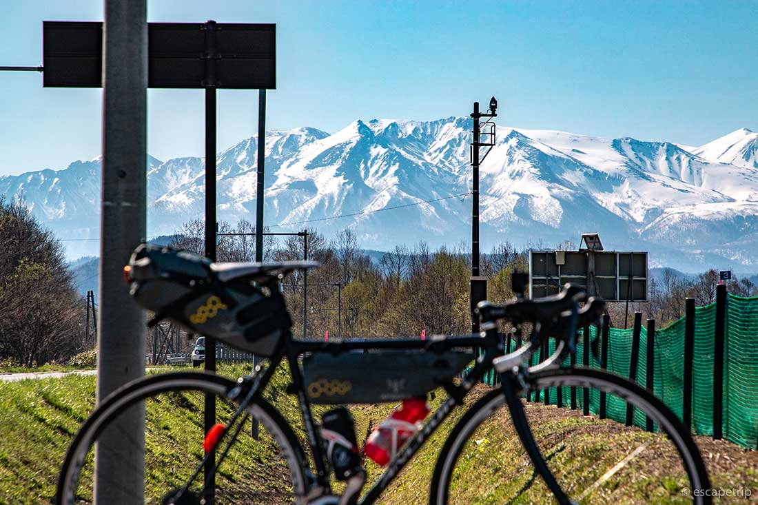 北見山地とロードバイク