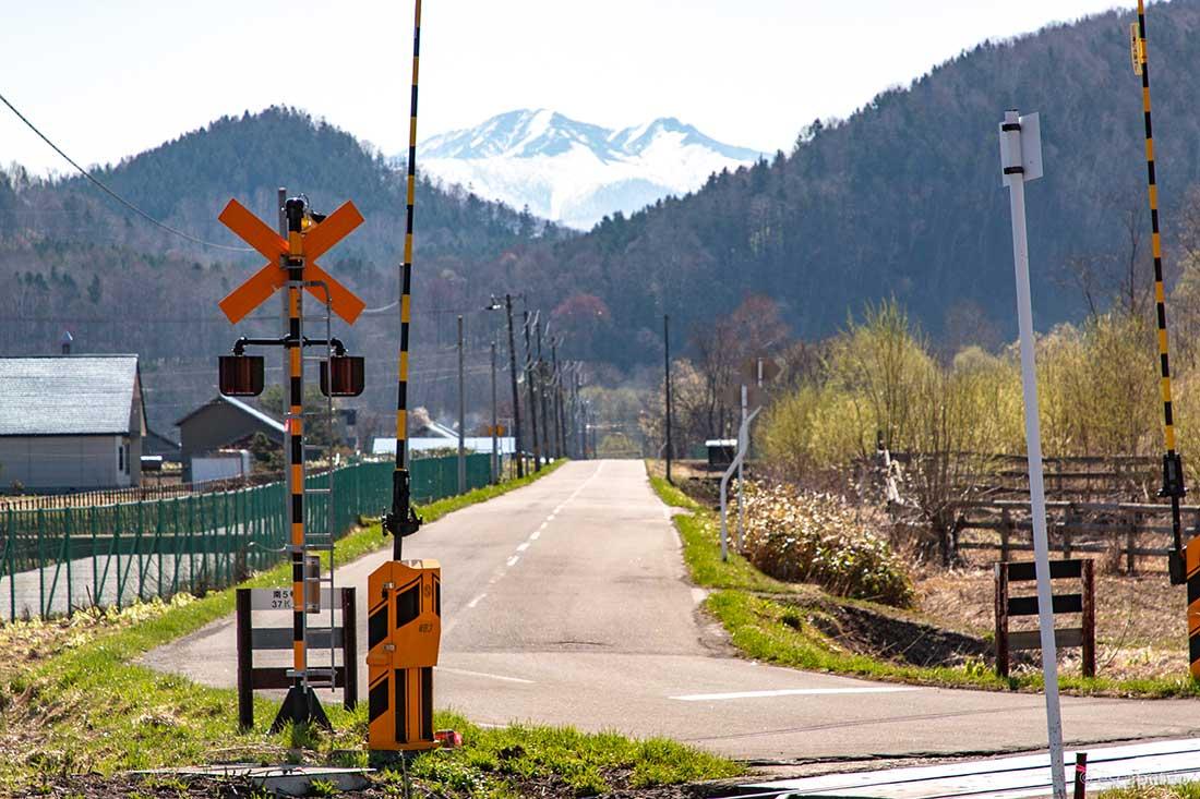北海道の道路と踏切