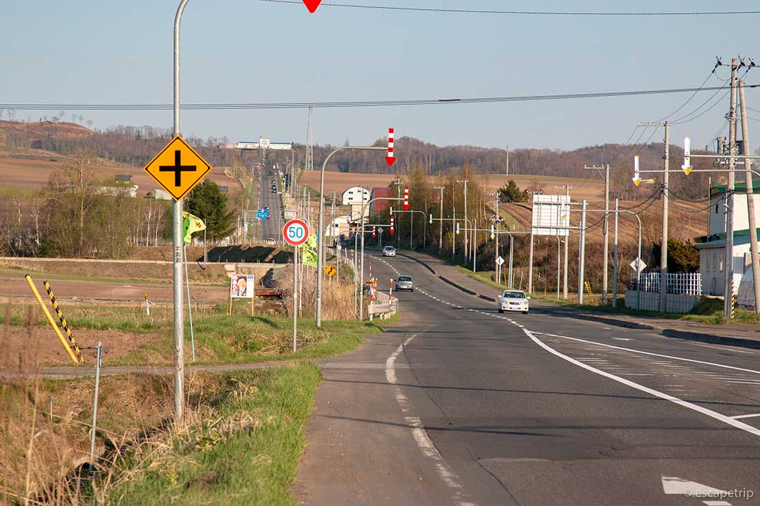 美幌の道路