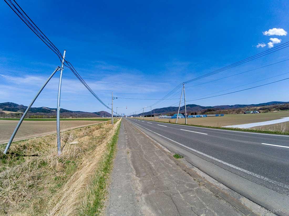 北海道の直線道路
