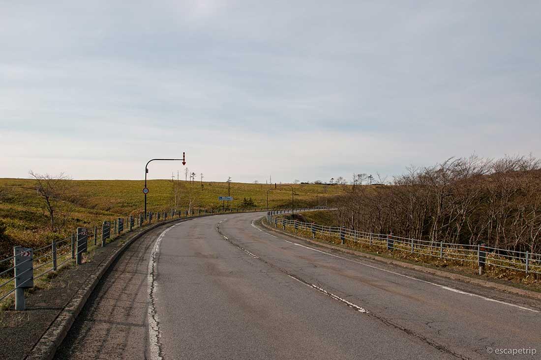 美幌峠へ向かう道