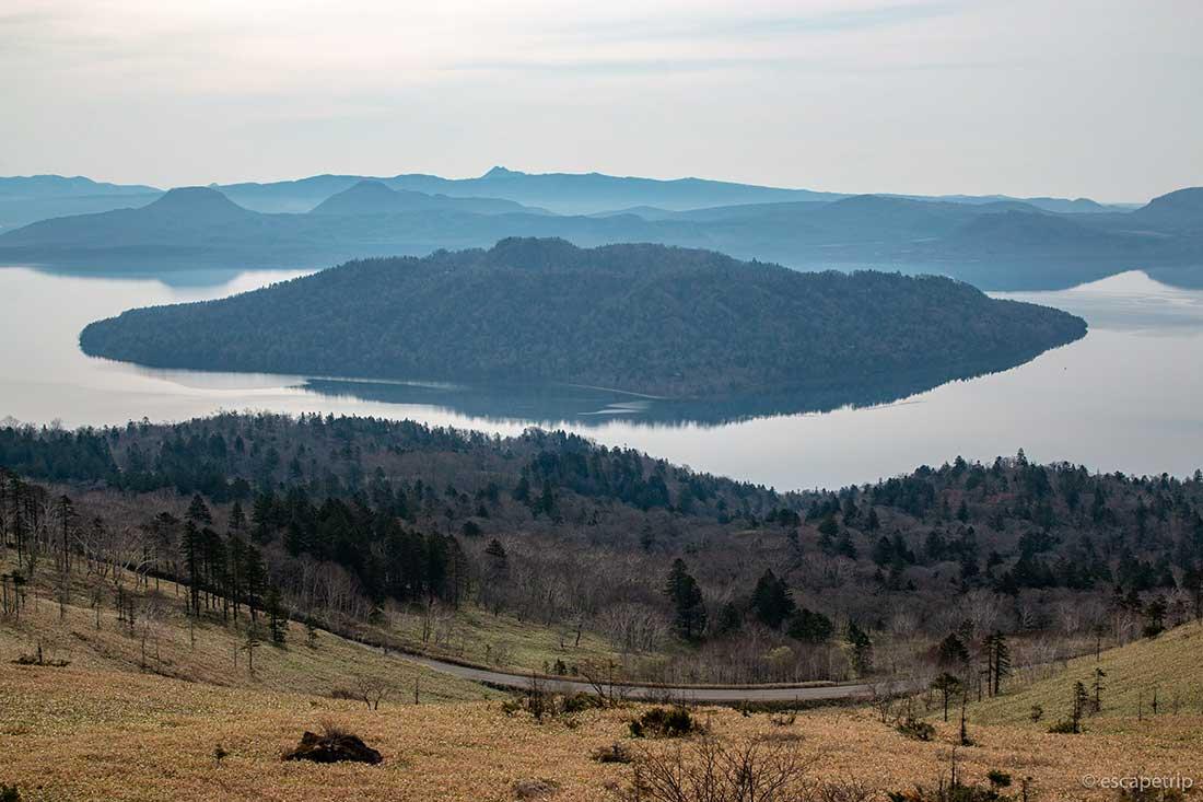 屈斜路湖の中島
