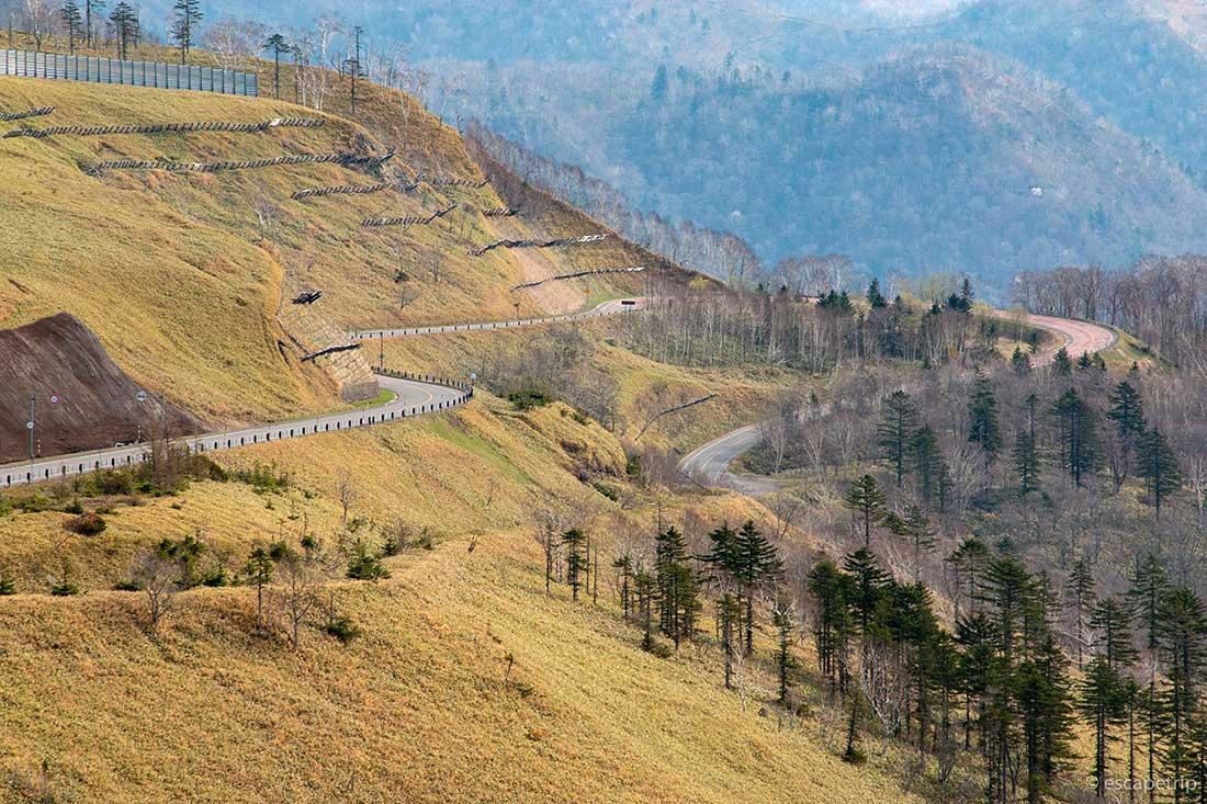 美幌峠から見る道