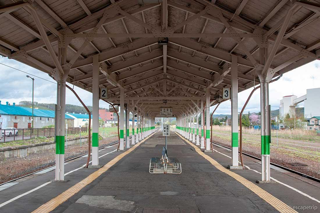 美幌駅のプラットホーム
