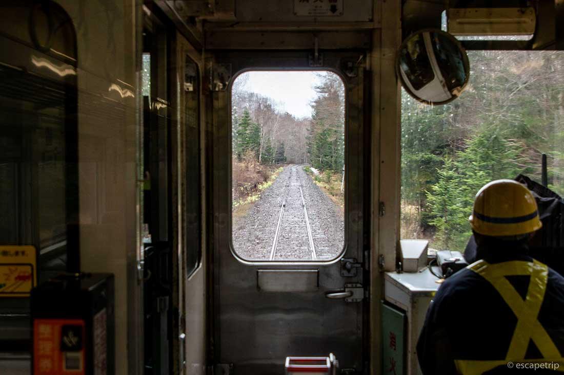 列車前方の景色