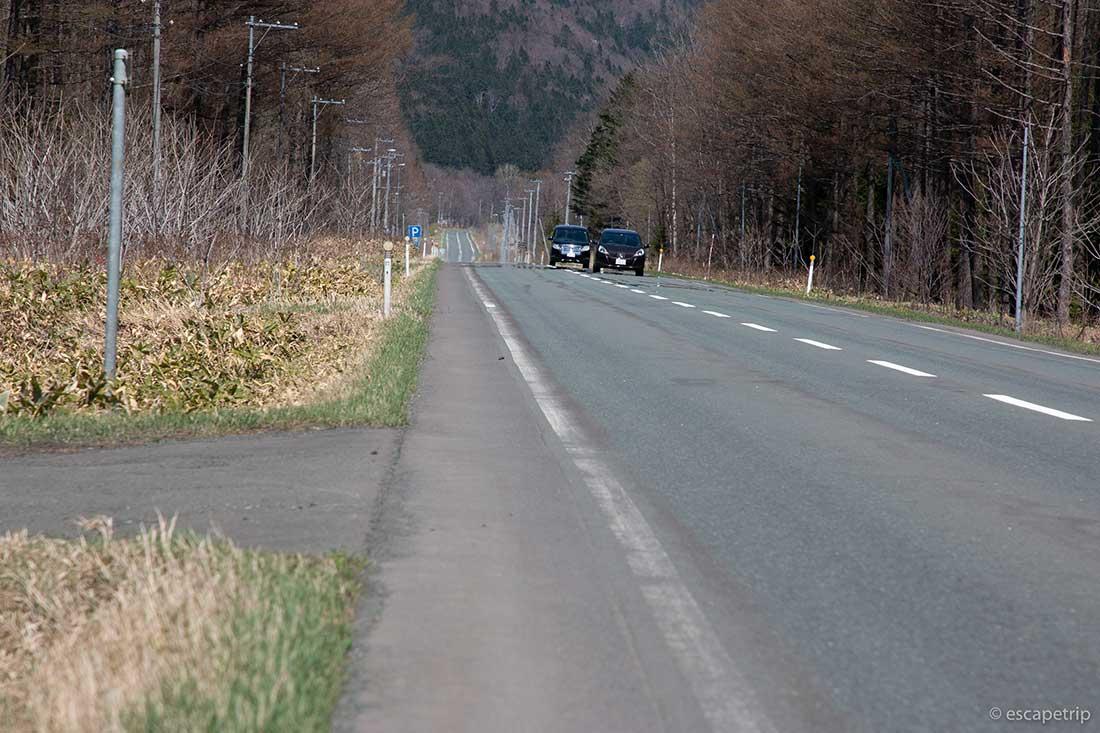 片側一車線の道路