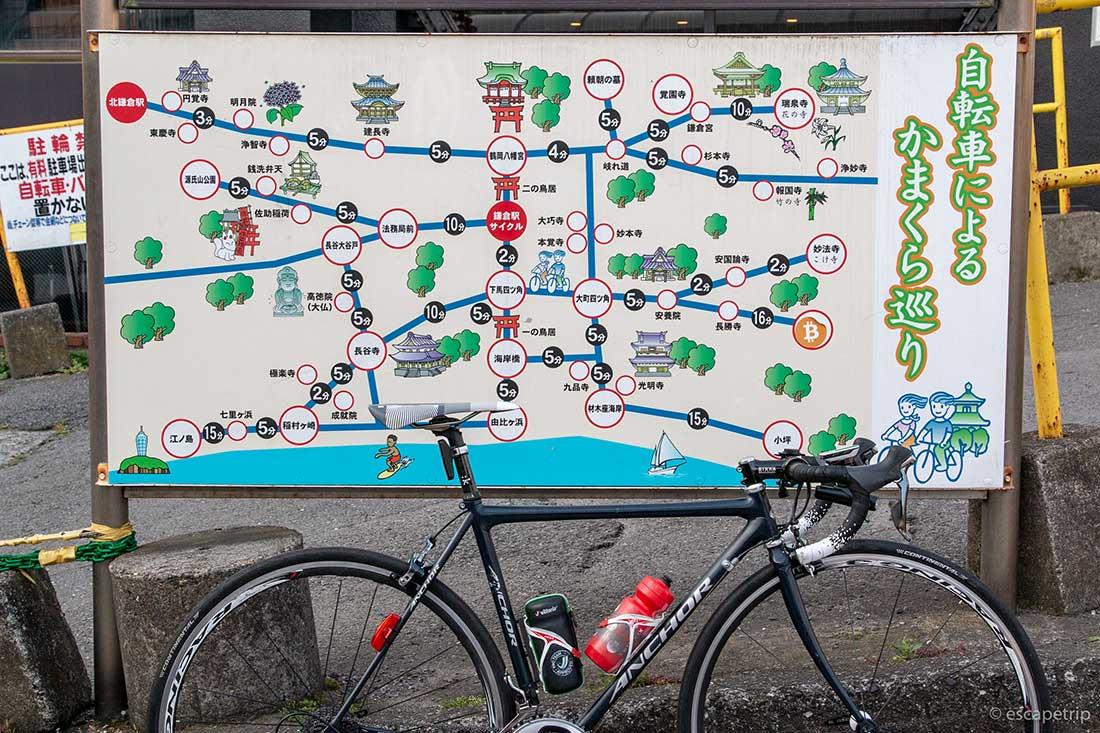 自転車による鎌倉巡り