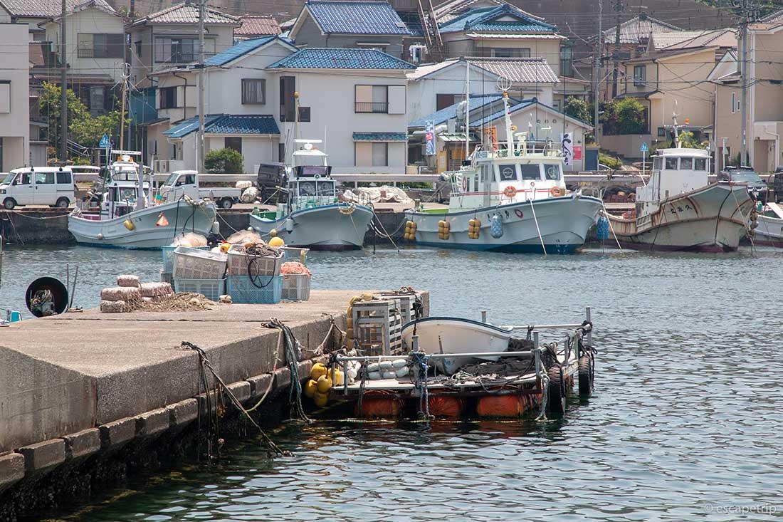 三浦半島の漁村