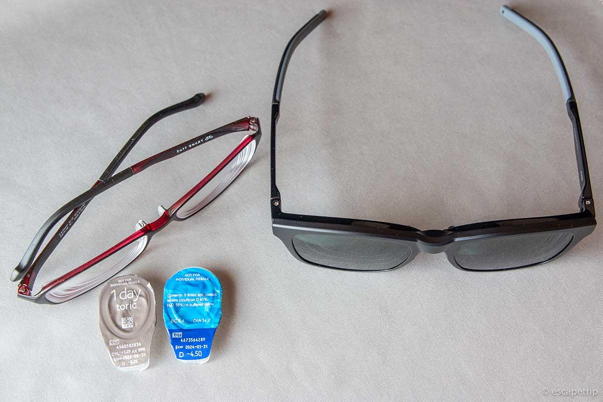メガネとコンタクトレンズとJINS Switch