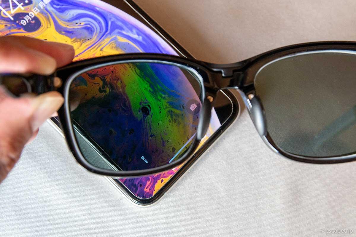 偏光レンズと液晶