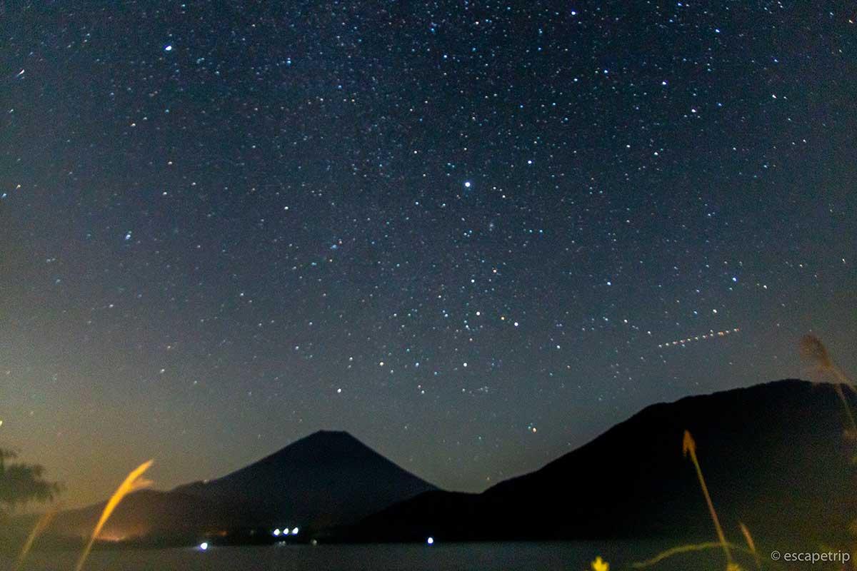 浩庵キャンプ場の満天の星空