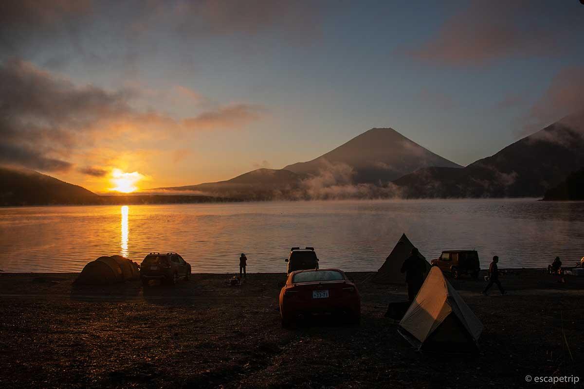浩庵キャンプ場の日の出