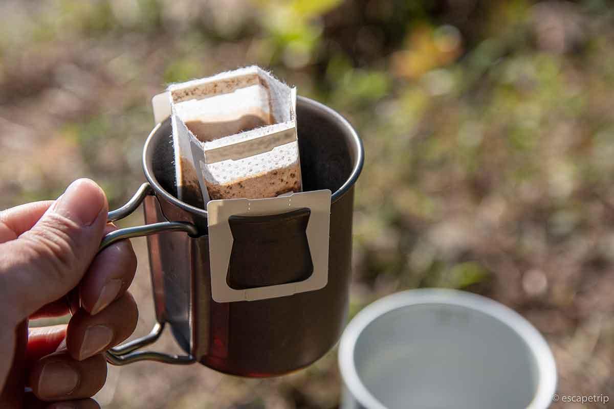 キャンプで飲むコーヒー