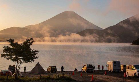 浩庵キャンプ場の朝
