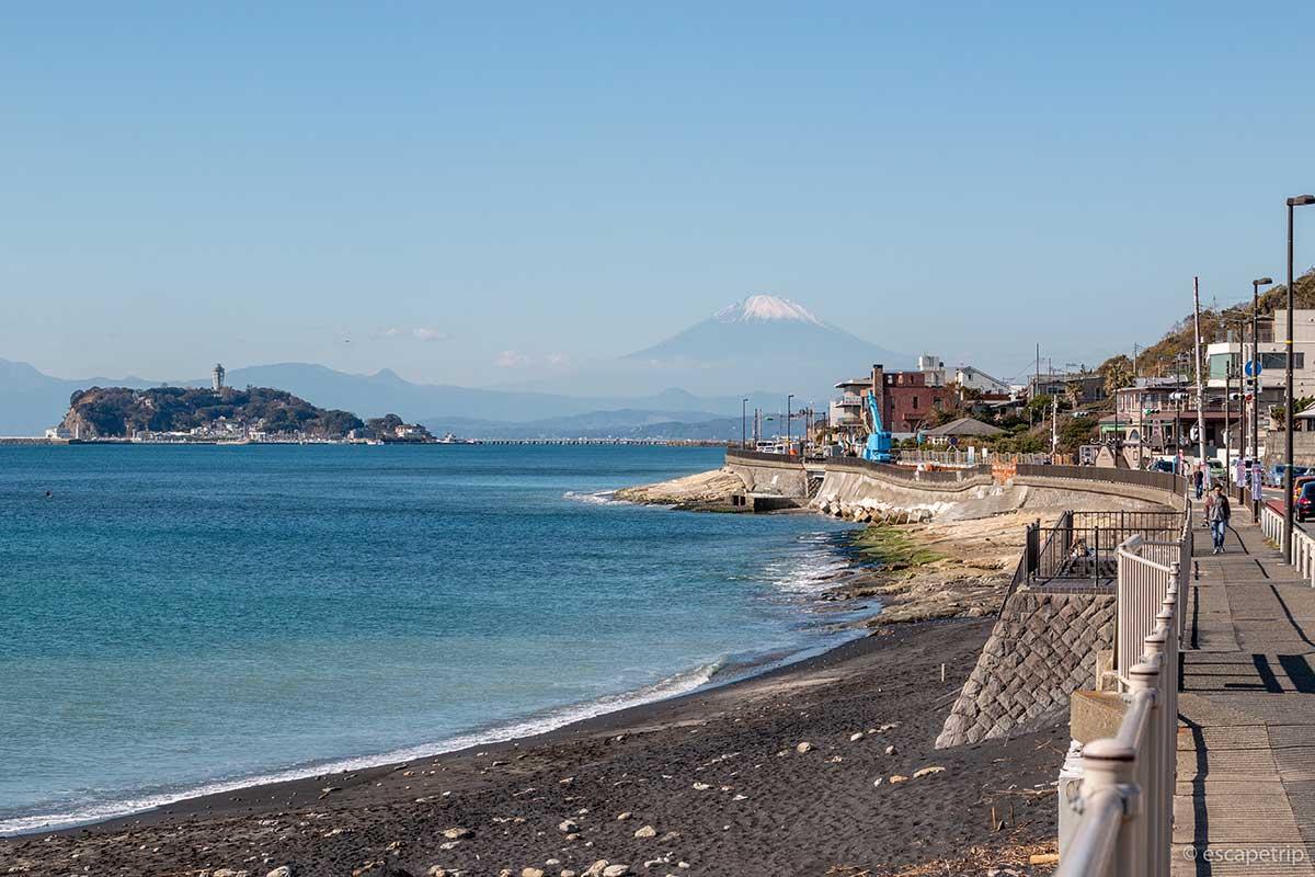 鎌倉方面から見る富士山