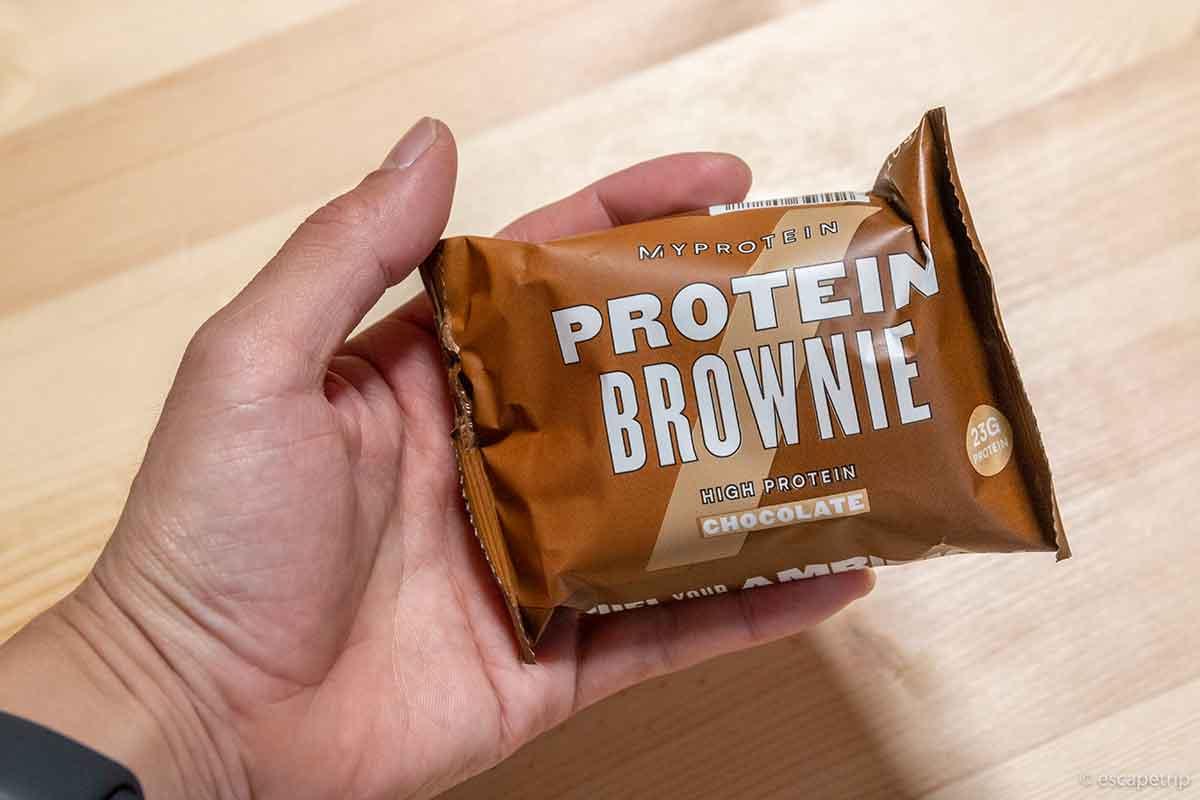 マイプロテインのチョコレート味のブラウニー