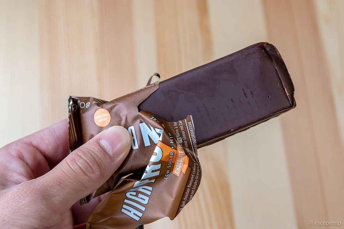 マイプロテインのハイプロテインバーのチョコレート感