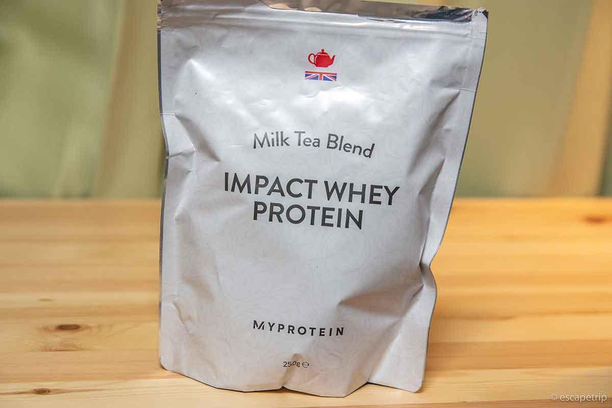 Impactホエイプロテインのミルクティー味