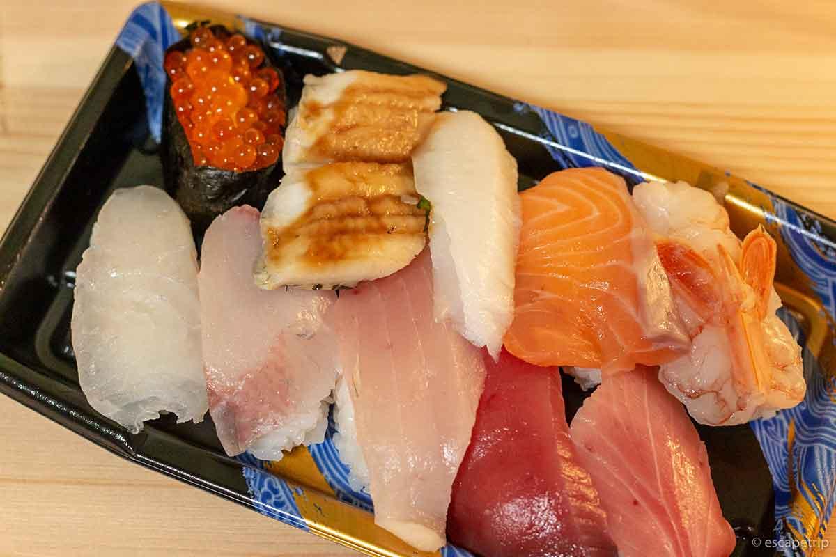 ウーバーイーツの寿司