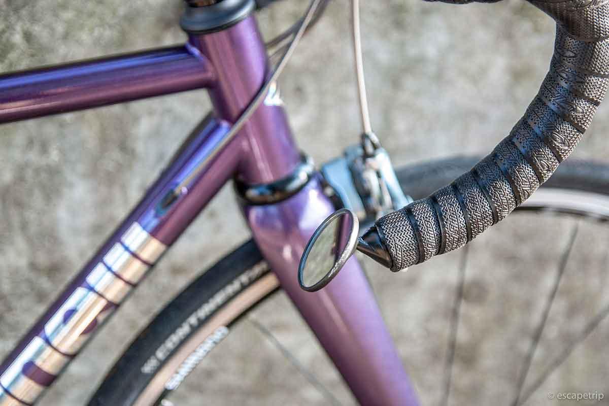 ロードバイクのハンドルに取り付けるミラー