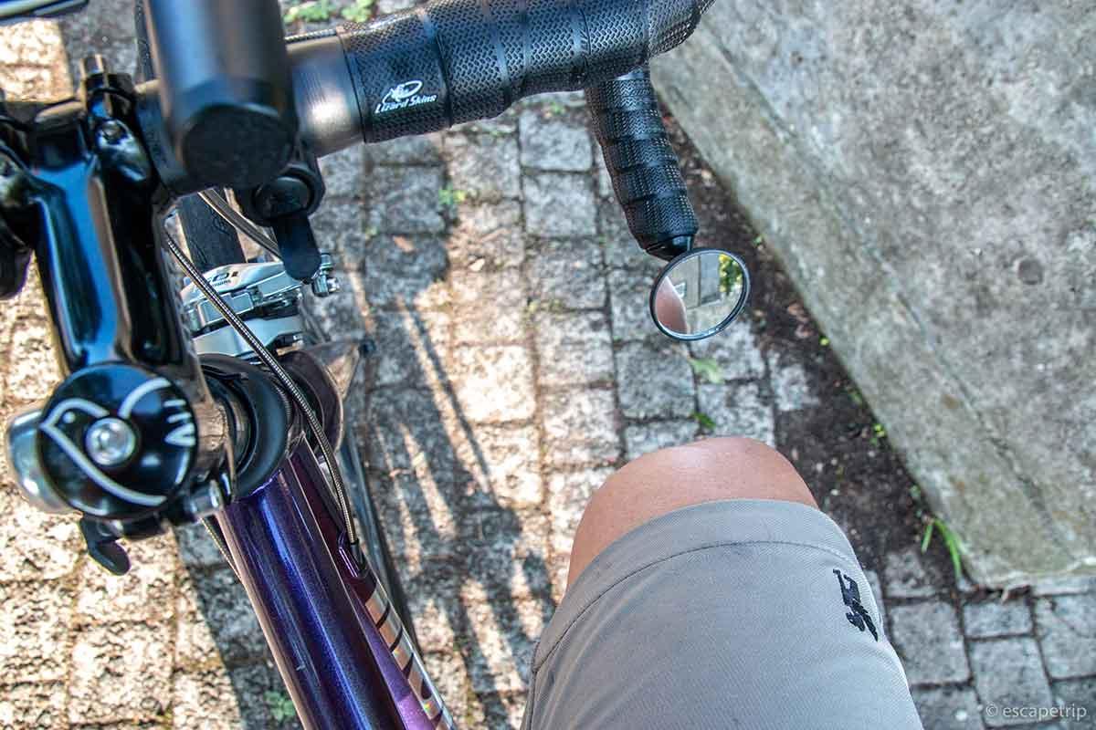 ロードバイクのハンドルとヒザの距離