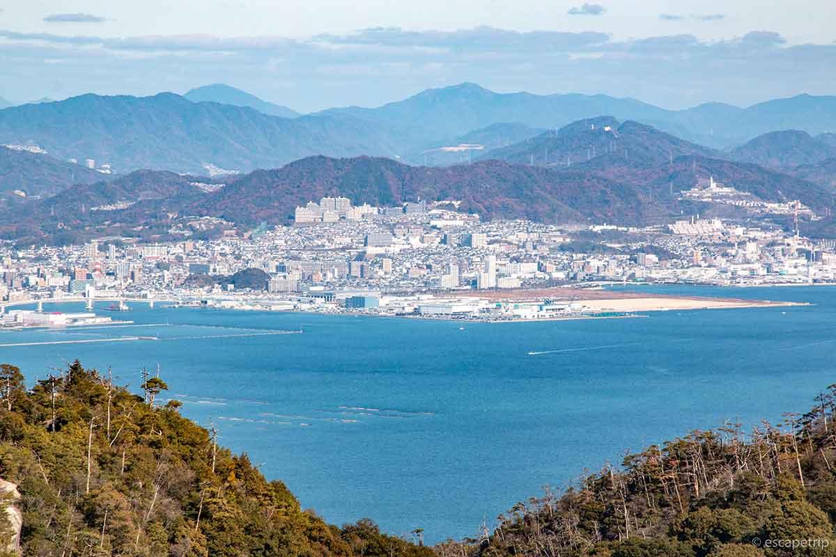 宮島の頂上からの景色