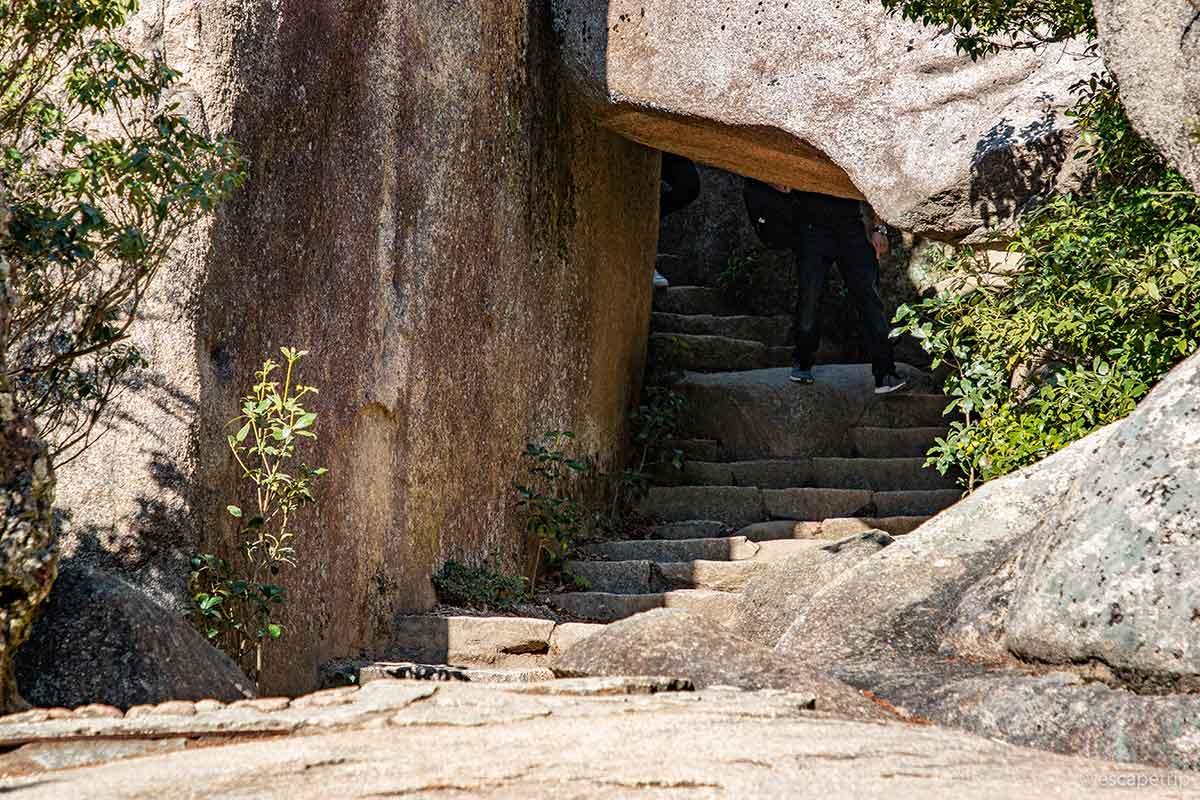 宮島の登山道