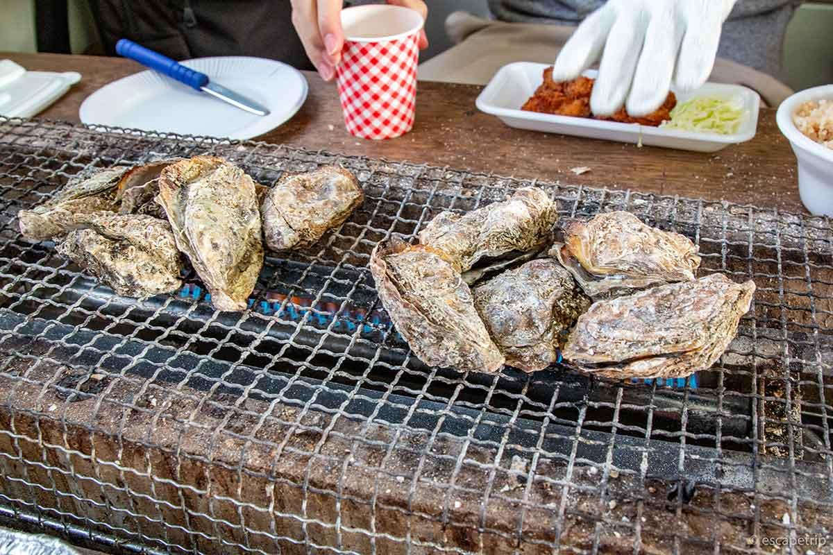 牡蠣小屋の牡蠣