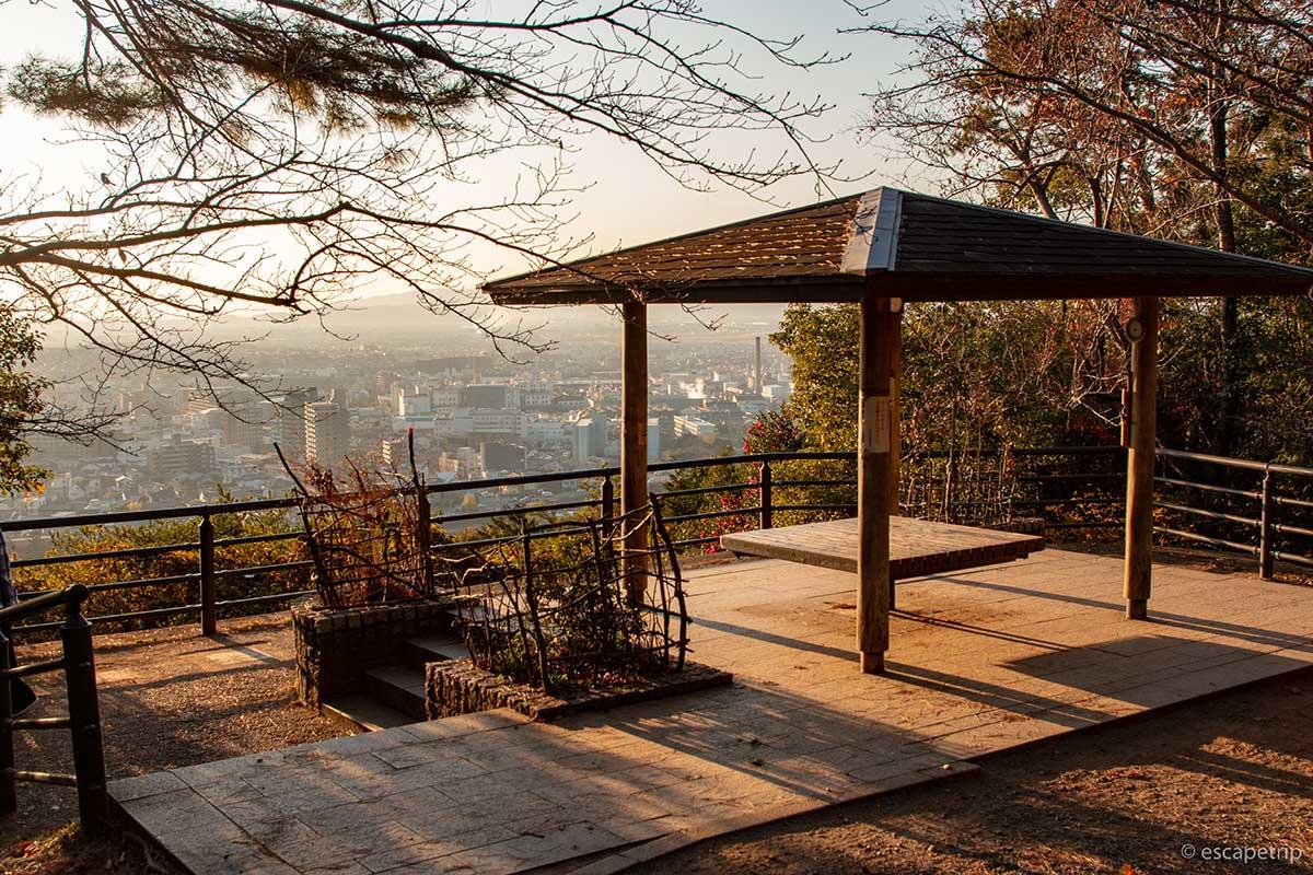 大吉山展望台と夕日