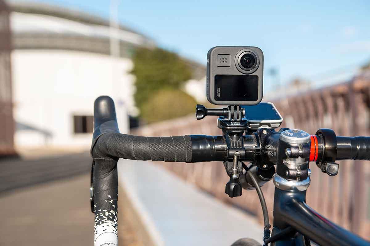 GoProをロードバイクのハンドルにマウント