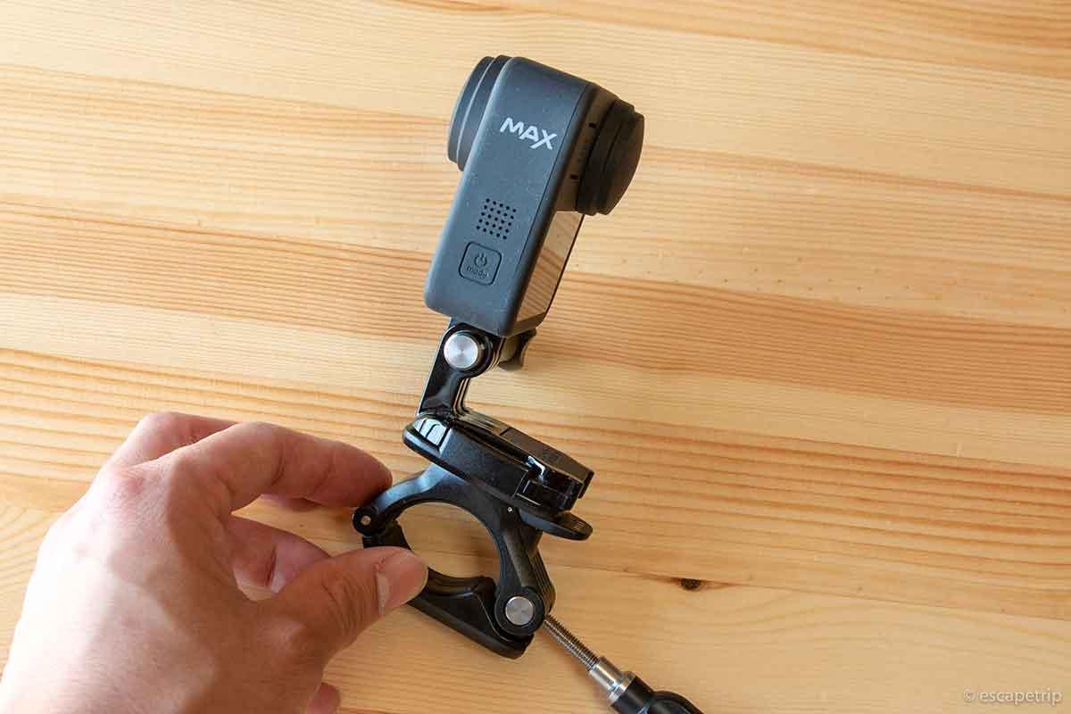 GoProをマウントしたところ