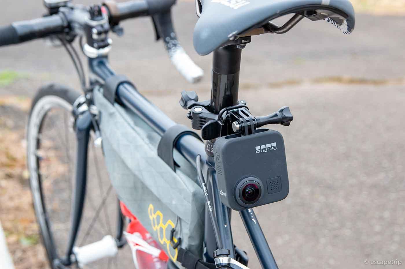 GoProをシートポストに装着