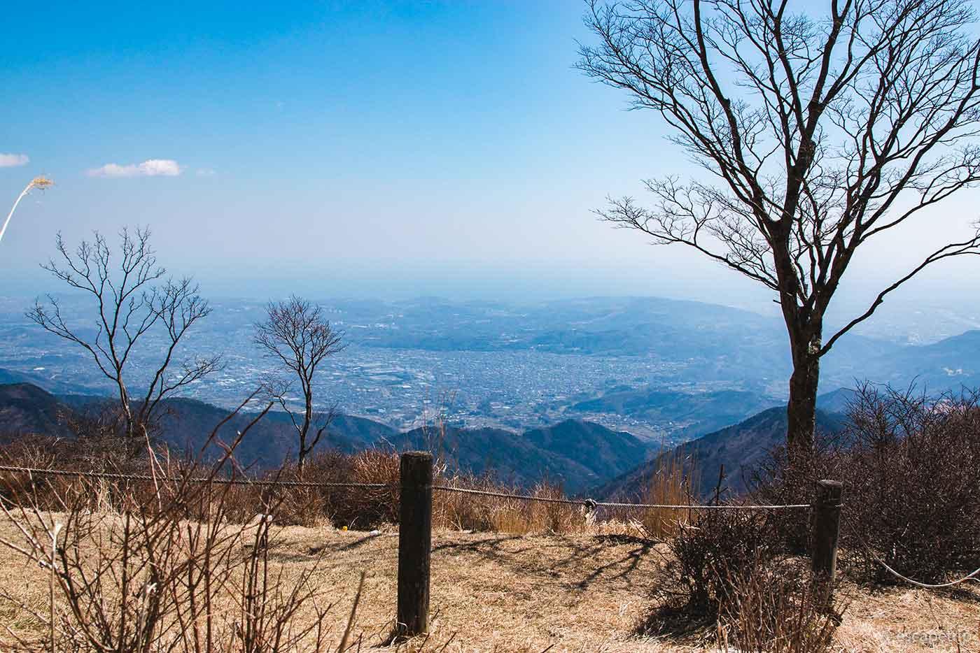 鍋割山から見る秦野市