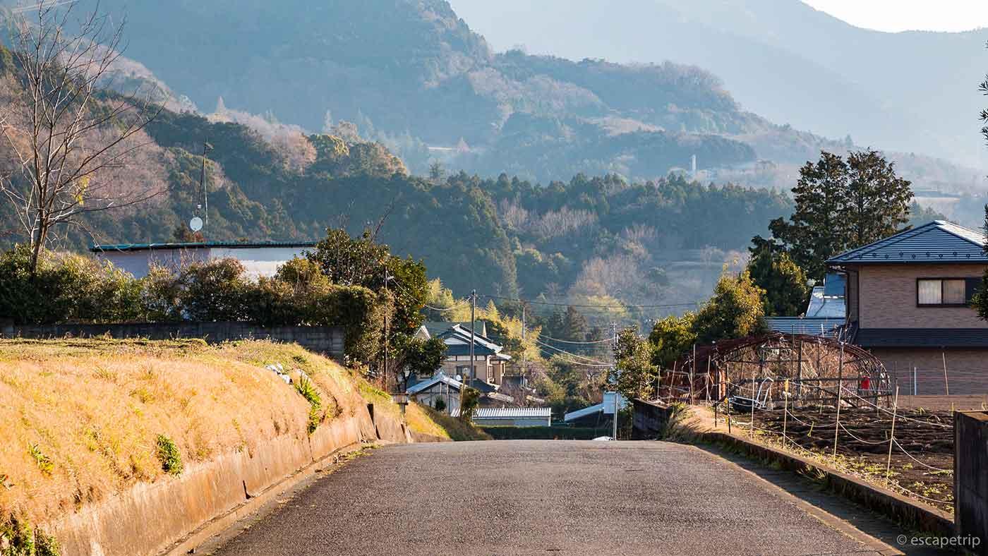 鍋割山へ行く道