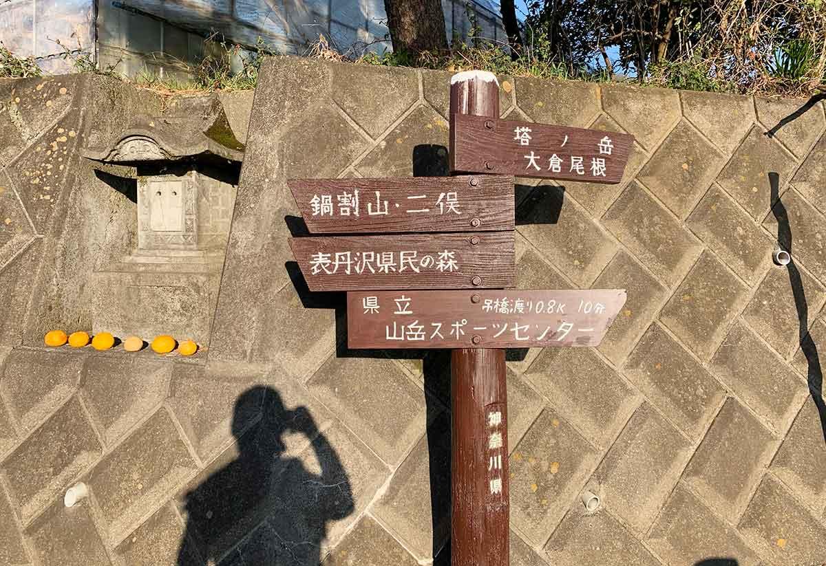 表丹沢の標識